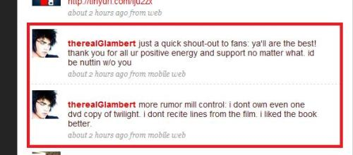 Adam Lambert Tweeter